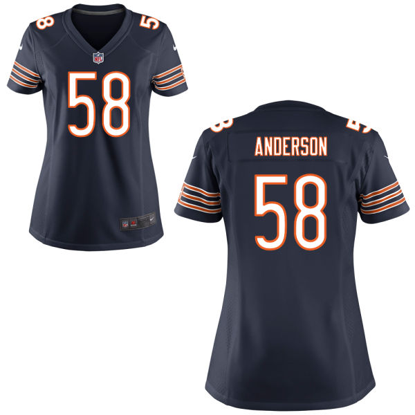 Jonathan Anderson Women's Nike Chicago Bears Game Navy Blue Jersey