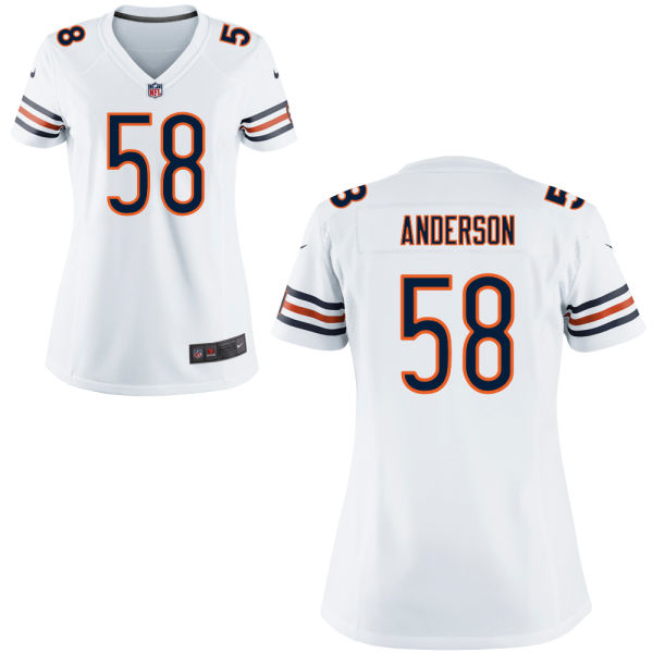 Jonathan Anderson Women's Nike Chicago Bears Game White Jersey