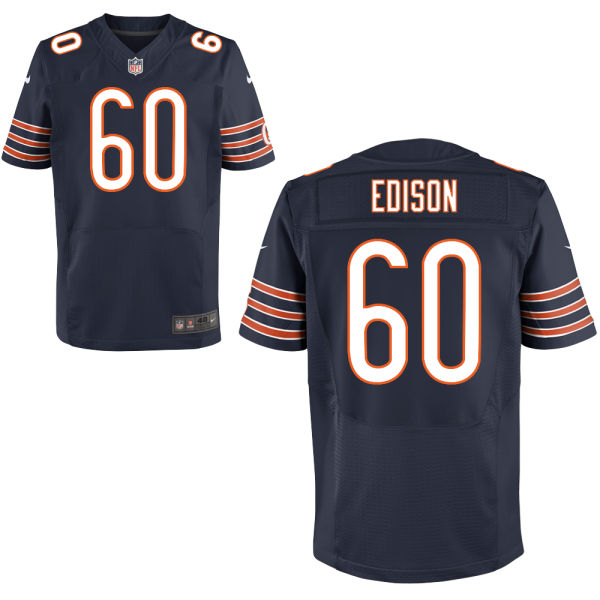 Cornelius Edison Nike Chicago Bears Elite Navy Blue Jersey