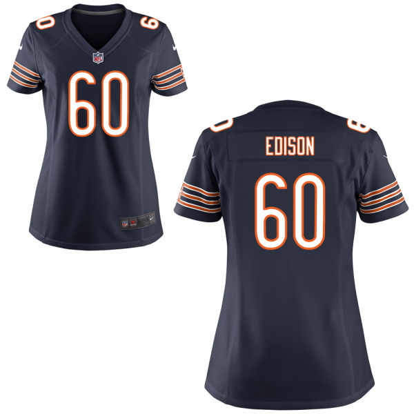Cornelius Edison Women's Nike Chicago Bears Limited Navy Blue Jersey