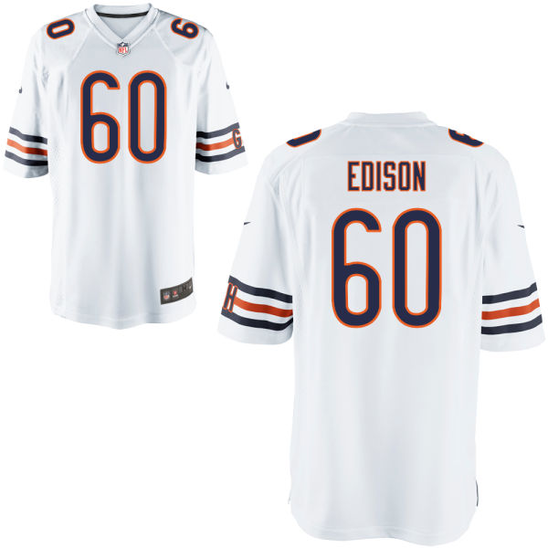 Cornelius Edison Youth Nike Chicago Bears Game White Jersey