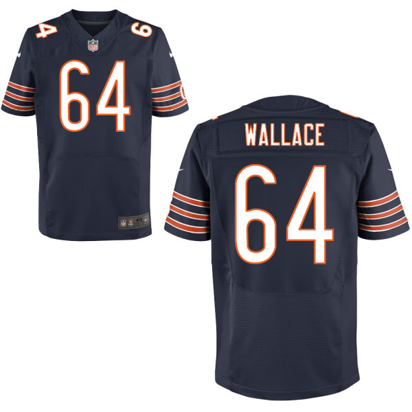 Martin Wallace Nike Chicago Bears Elite Navy Blue Jersey