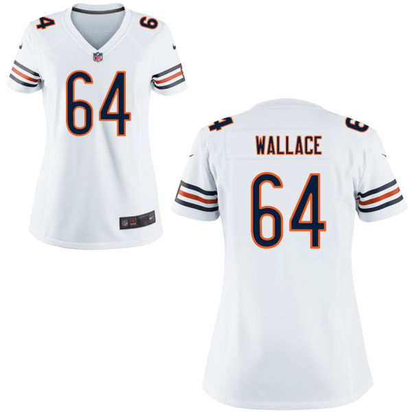 Martin Wallace Women's Nike Chicago Bears Game White Jersey