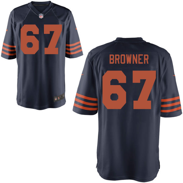 Keith Browner Nike Chicago Bears Game Brown Alternate Jersey