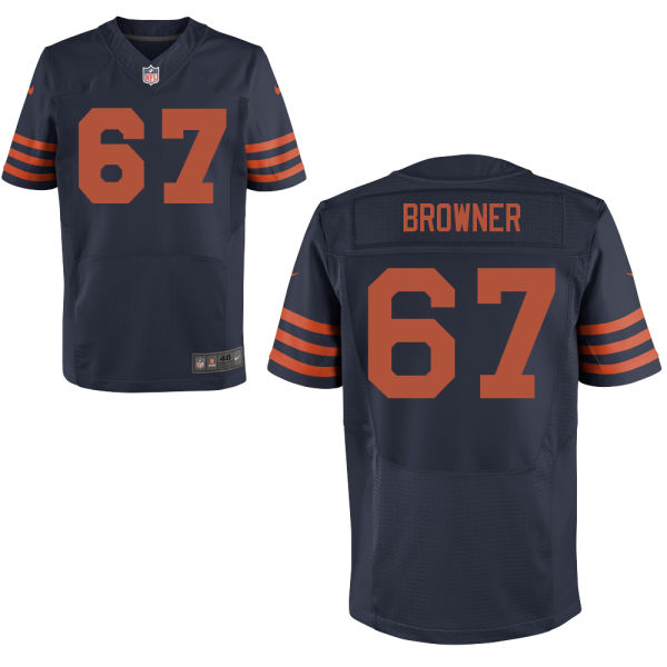 Keith Browner Nike Chicago Bears Elite Navy Blue Alternate Jersey