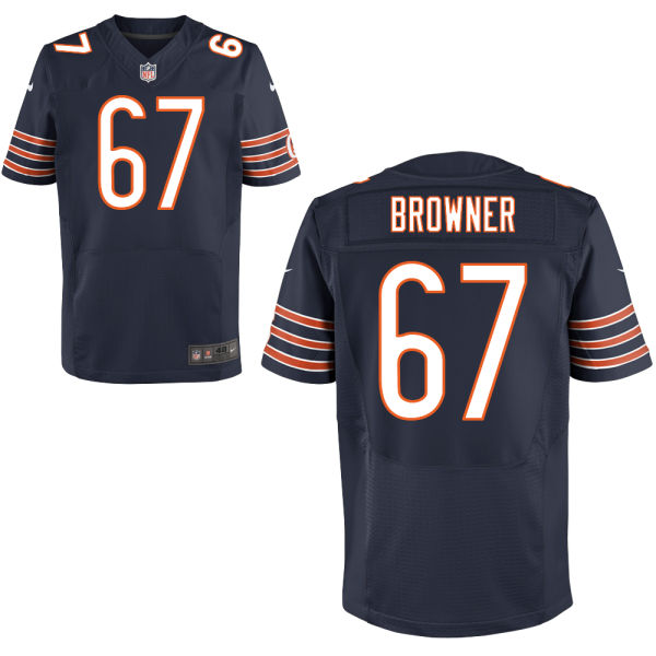 Keith Browner Nike Chicago Bears Elite Navy Blue Jersey