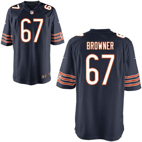 Keith Browner Nike Chicago Bears Game Brown Navy Jersey