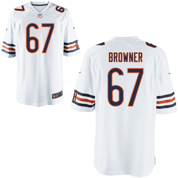 Keith Browner Nike Chicago Bears Game White Jersey