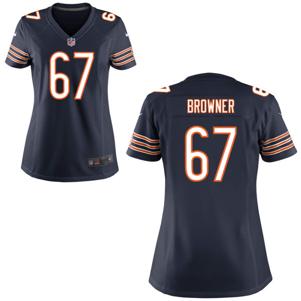 Keith Browner Women's Nike Chicago Bears Game Navy Blue Jersey