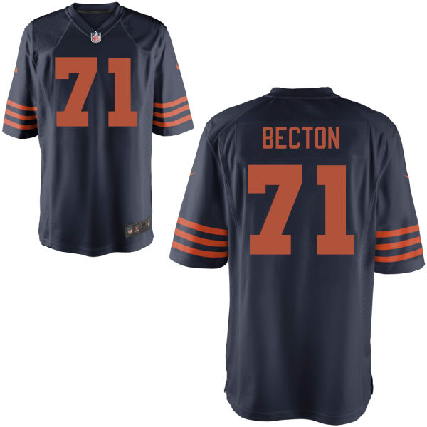 Nick Becton Nike Chicago Bears Game Alternate Jersey
