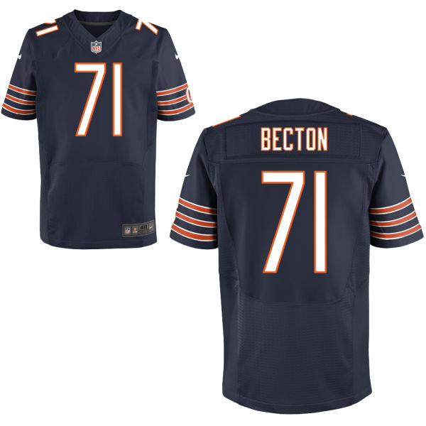 Nick Becton Nike Chicago Bears Elite Navy Blue Jersey