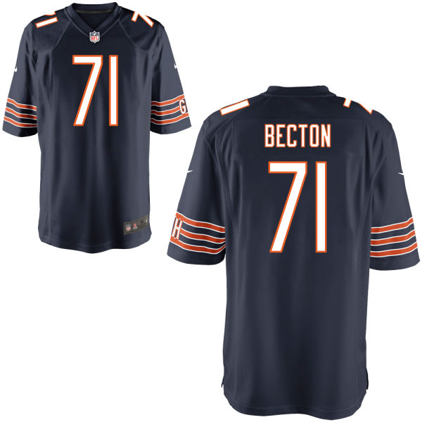 Nick Becton Nike Chicago Bears Game Navy Jersey