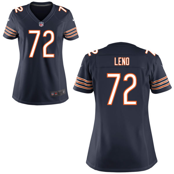 Charles Leno Women's Nike Chicago Bears Game Navy Blue Jersey