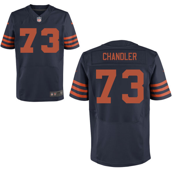 Nate Chandler Nike Chicago Bears Elite Navy Blue Alternate Jersey