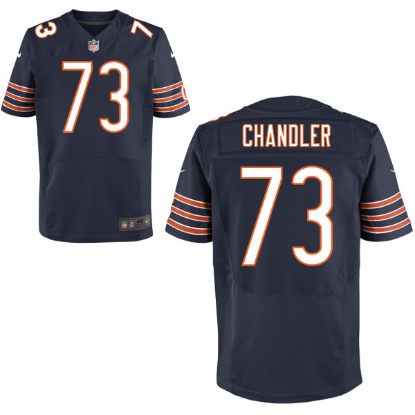 Nate Chandler Nike Chicago Bears Elite Navy Blue Jersey