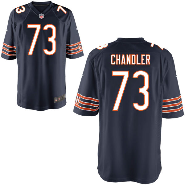 Nate Chandler Nike Chicago Bears Game Navy Jersey