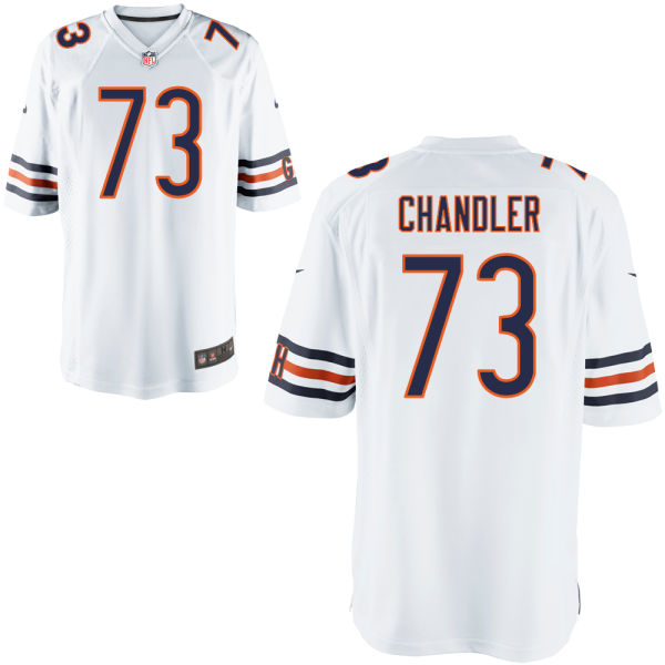 Nate Chandler Nike Chicago Bears Game White Jersey