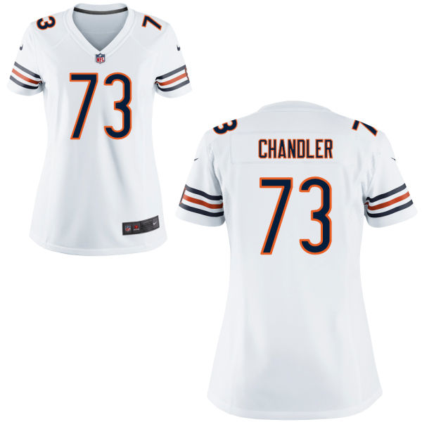 Nate Chandler Women's Nike Chicago Bears Game White Jersey