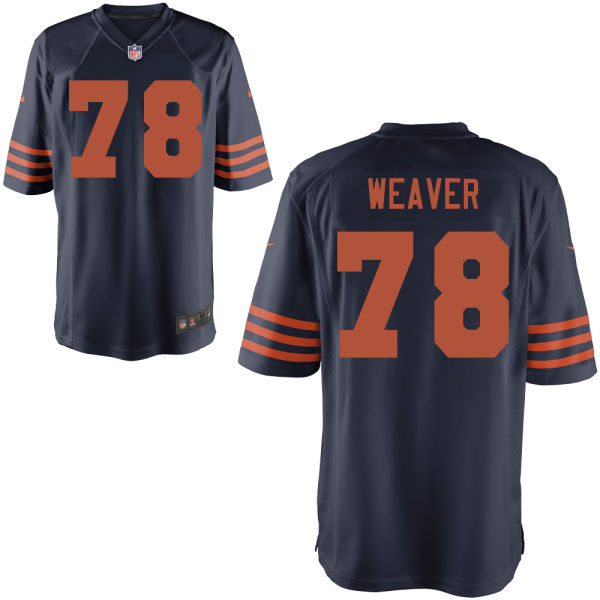 Jason Weaver Nike Chicago Bears Game Alternate Jersey