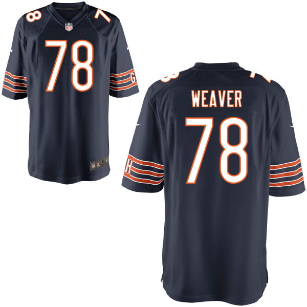 Jason Weaver Nike Chicago Bears Game Navy Jersey