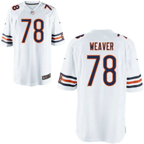 Jason Weaver Nike Chicago Bears Game White Jersey