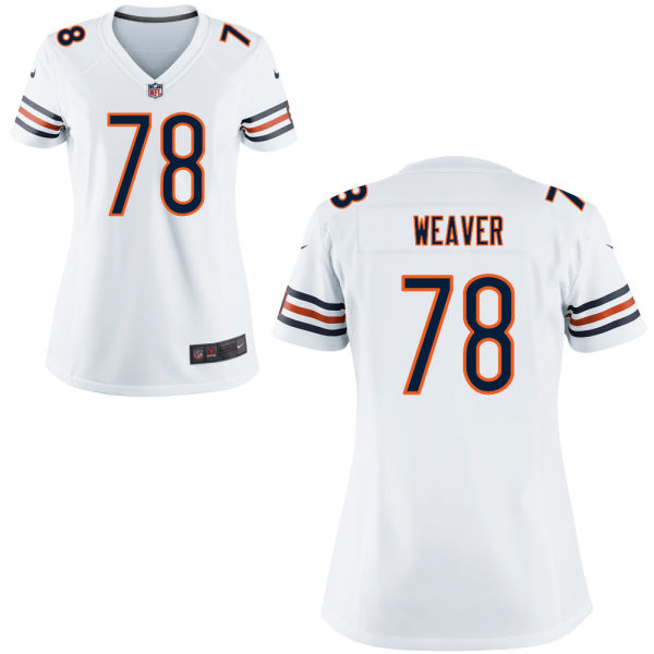 Jason Weaver Women's Nike Chicago Bears Game White Jersey