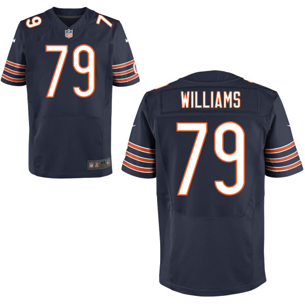 Terry Williams Nike Chicago Bears Elite Navy Blue Jersey