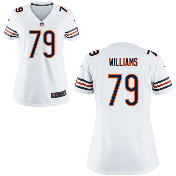 Terry Williams Women's Nike Chicago Bears Game White Jersey