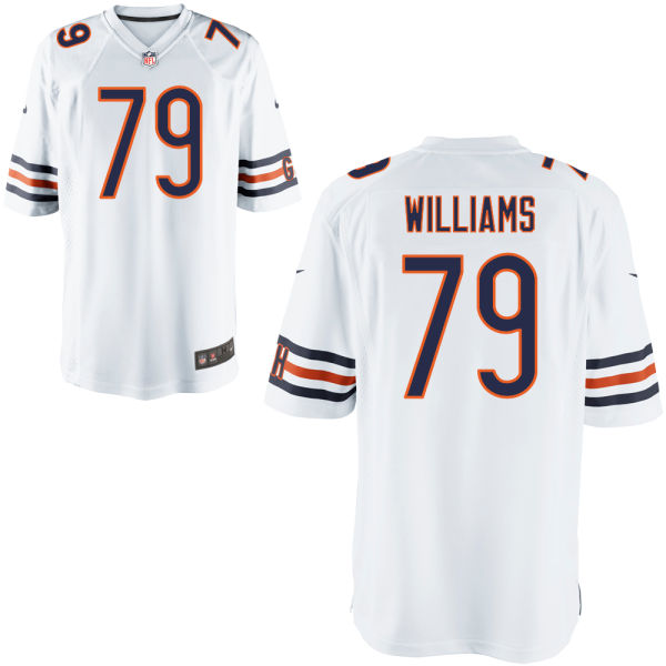 Terry Williams Youth Nike Chicago Bears Game White Jersey