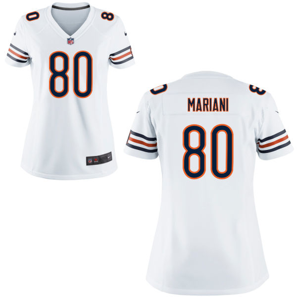 Marc Mariani Women's Nike Chicago Bears Game White Jersey