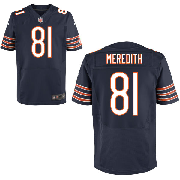 Cameron Meredith Nike Chicago Bears Elite Navy Blue Jersey