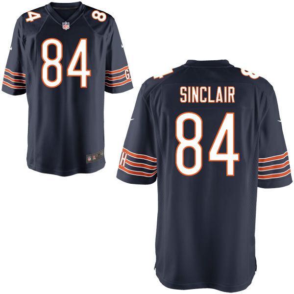 Gannon Sinclair Nike Chicago Bears Game Navy Jersey