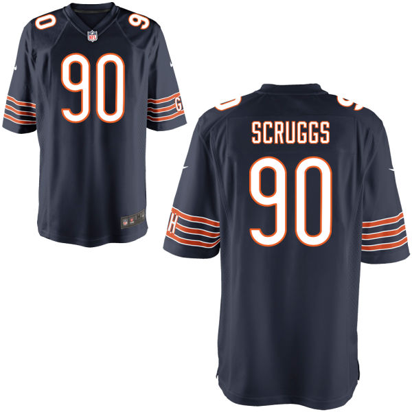 Greg Scruggs Nike Chicago Bears Limited Navy Jersey