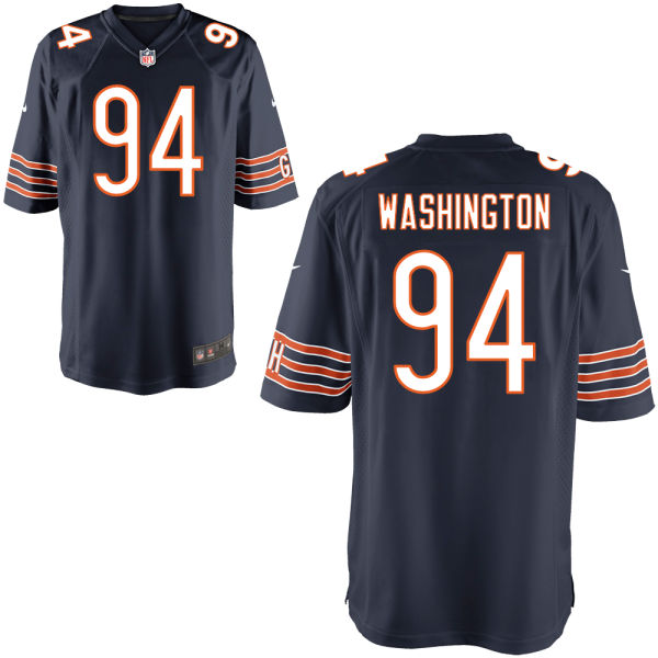Cornelius Washington Nike Chicago Bears Game Navy Jersey