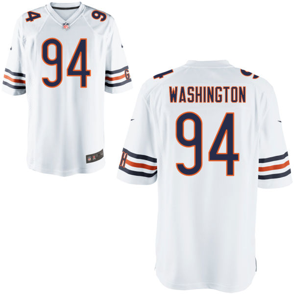 Cornelius Washington Nike Chicago Bears Game White Jersey