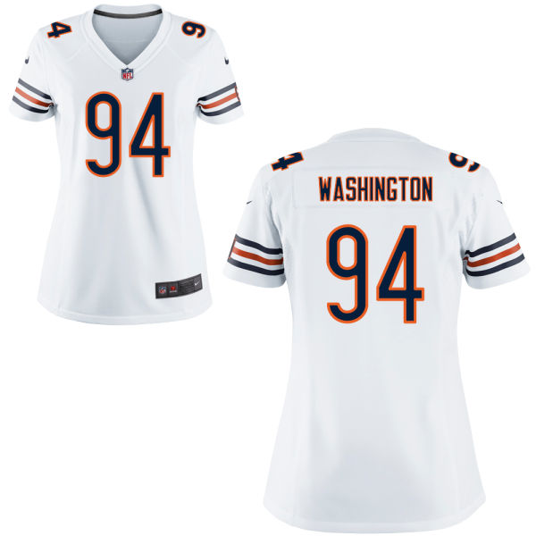 Cornelius Washington Women's Nike Chicago Bears Game White Jersey