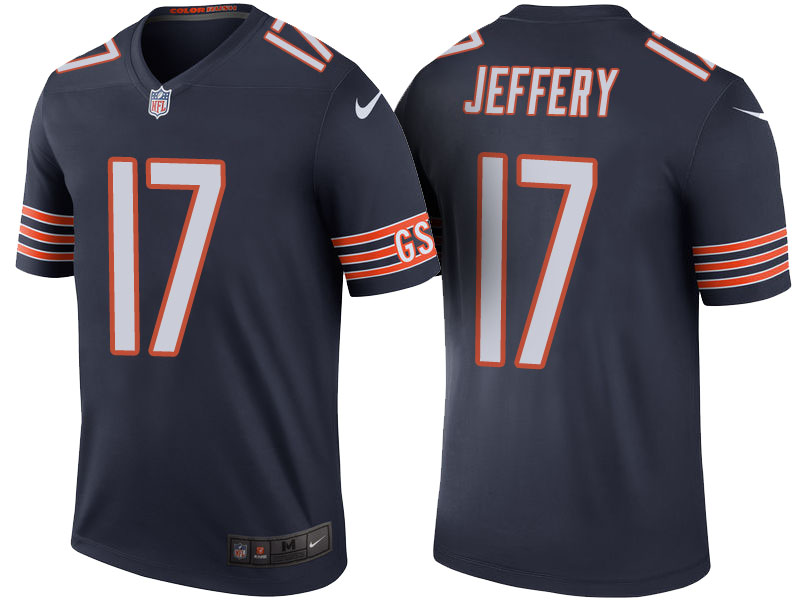 Alshon Jeffery Chicago Bears Navy Color Rush Legend Jersey