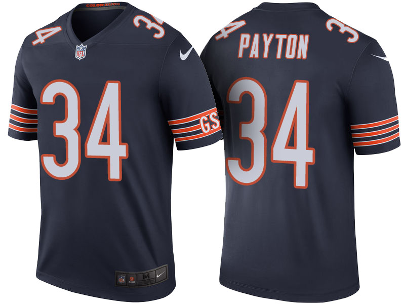 Walter Payton Chicago Bears Navy Color Rush Legend Jersey