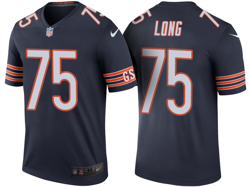 Kyle Long Chicago Bears Navy Color Rush Legend Jersey