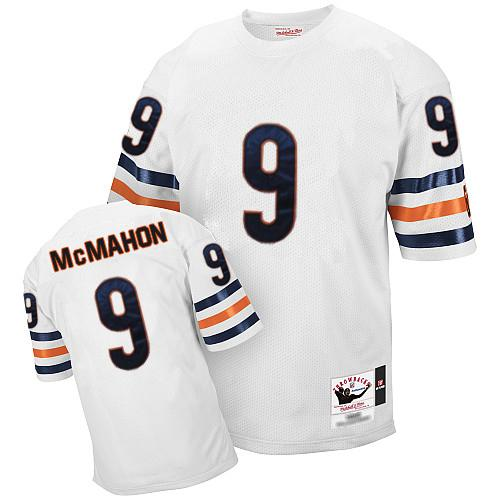 Jim McMahon Mitchell and Ness Chicago Bears Authentic White Small Number Throwback Jersey