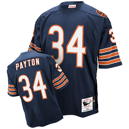 Walter Payton Mitchell and Ness Chicago Bears Authentic Blue Team Color Throwback Jersey