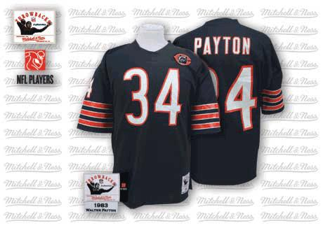 new arrival 73abd 286ca Walter Payton Mitchell and Ness Chicago Bears Authentic Blue Team Color Big  Number With Bear Patch Throwback Jersey