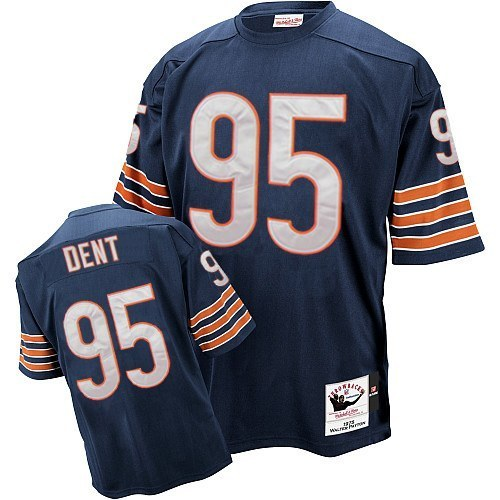 Richard Dent Mitchell and Ness Chicago Bears Authentic Blue Team Color Throwback Jersey