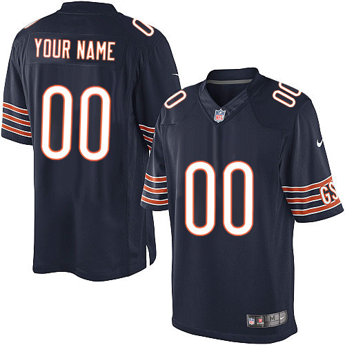 Custom Nike Chicago Bears Limited Navy Blue ized Team Color Jersey