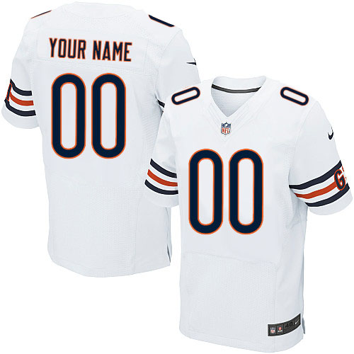 Custom Nike Chicago Bears Elite White ized Jersey