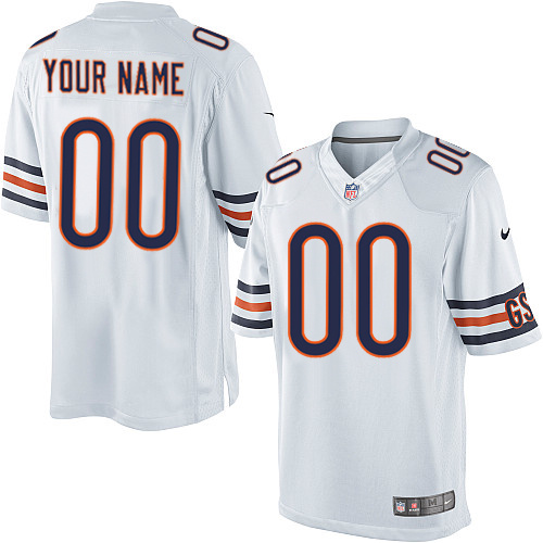 Custom Nike Chicago Bears Limited White ized Jersey