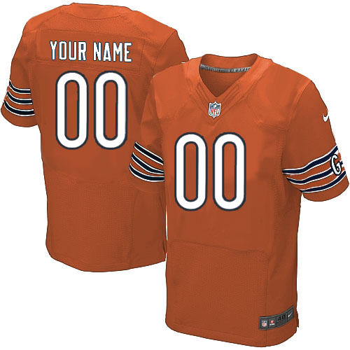 Custom Nike Chicago Bears Elite Orange ized Alternate Jersey