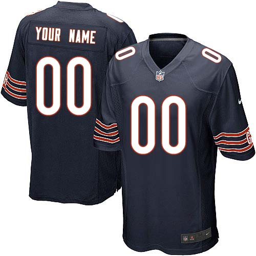 Custom Youth Nike Chicago Bears Elite Navy Blue ized Team Color Jersey