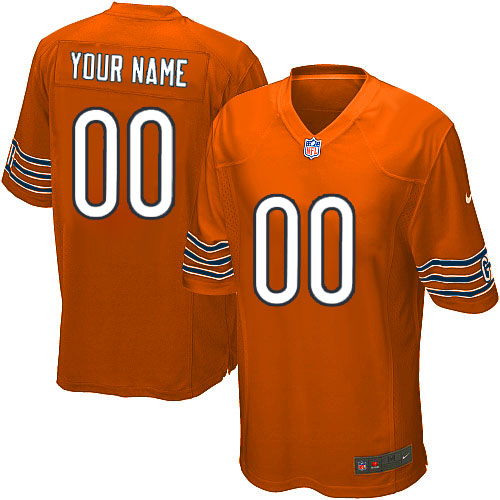 Custom Youth Nike Chicago Bears Limited Orange ized Alternate Jersey