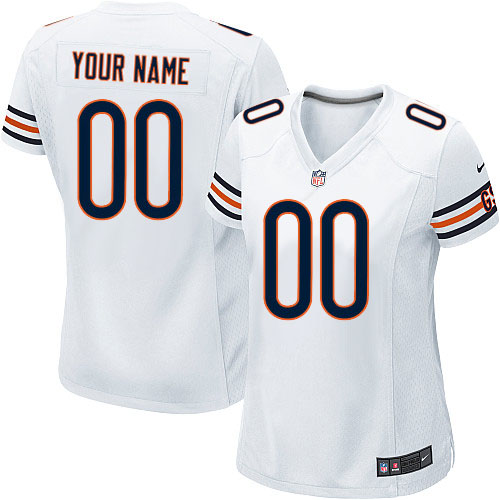 Custom Women's Nike Chicago Bears Elite White ized Jersey